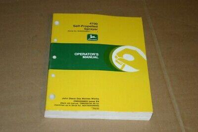 Jd John Deere 4700 Self-propel Sprayer Operators Manual Om-n200829 Omn200829