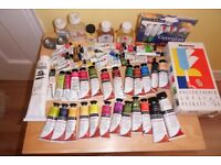 Big Mixed Lot Daler-Rowney Oil Paints & Accessories-Hardly Used-Once & Some New!Great Big Lot!