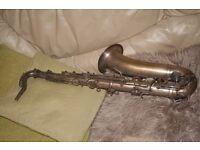 """J.Gras """"Breveté S.G.D.G J.Gras Fournisseur de l'armée tenor saxophone - for repair"""