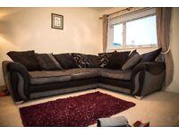 Stunning 9mths old Farrow DFS Charcoal Combination Left Hand Corner Sofa