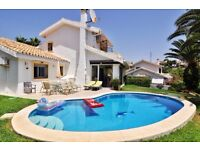 3 bed detached villa with own pool, Marbella Spain
