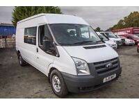 FORD TRANSIT 115 T-350 6 SEAT FACTORY FITTED CREW VAN– 11-reg