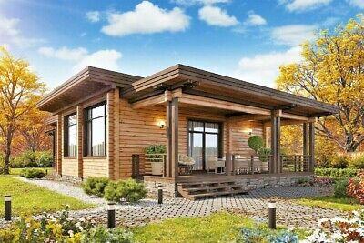 Log House Kit Lh-120 Eco Friendly Wood Prefab Diy Building Cabin Home Modular