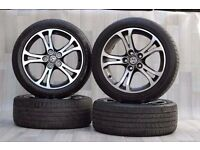 4 x 18'' GENIUNE VAUXHALL INSIGNA ALLOYS AND TYRES