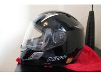 NEW Nitro NSFP Uno DVS Motorcycle Helmet (size S, black)