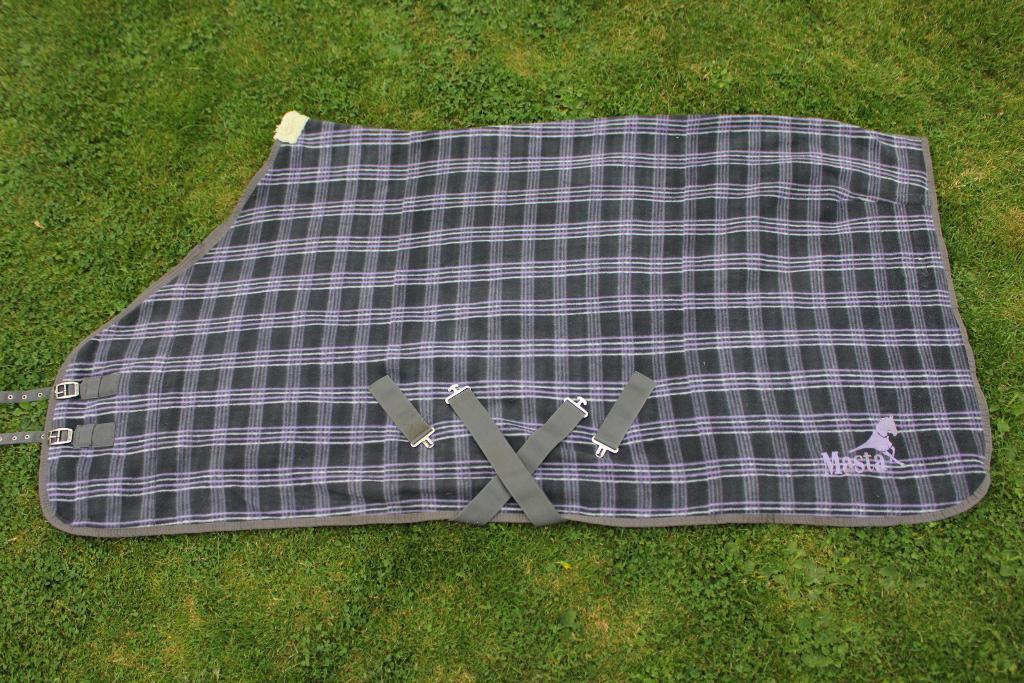 Masta Fleece Rug Size 6 Grey Purple Check Ideal As Cooler Travel