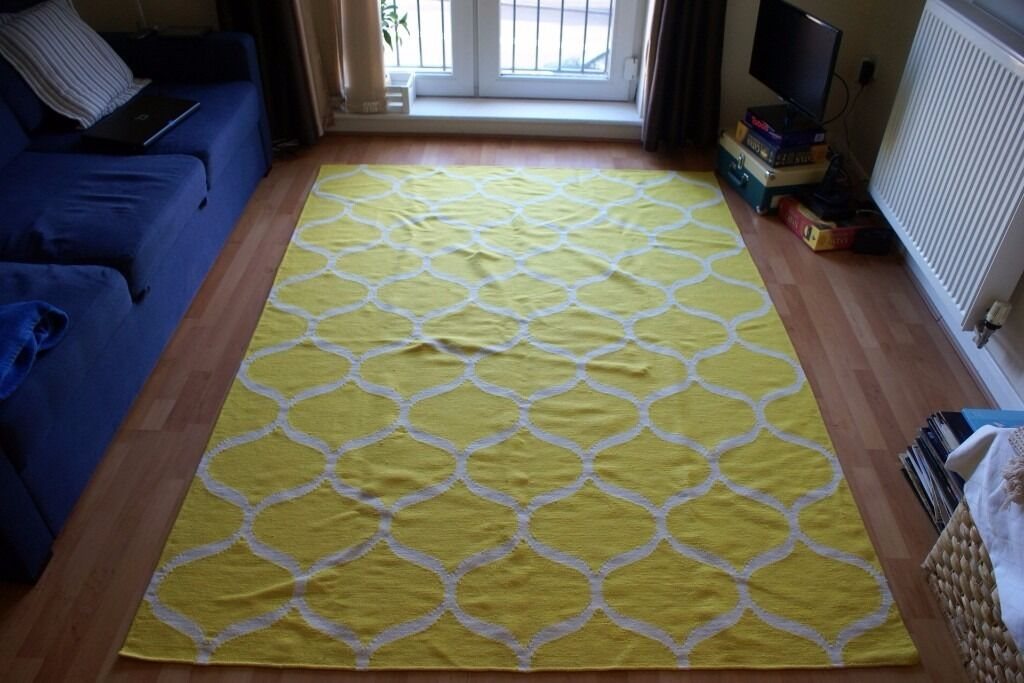 Ikea Stockholm Rug Yellow 170x240 Cm Rrp 160 Pounds In Sheffield