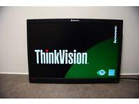Lenovo 22 inch Monitor on Sale/ DVI, VGA cable inclusive / have 3