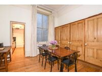 Redcliffe Square SW10. Large two double raised ground floor Victorian conversion flat to rent.