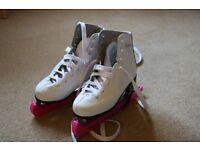 "Girls' ""SFR Galaxy"" Ice Skates - size 1"