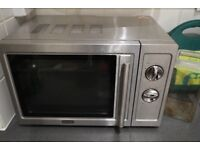 Delonghi silver microwave