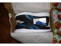 Reebok Royal EC Ride Mens Trainers Size 9 Black Turquoise Stripe Running Shoes Jogging Gym