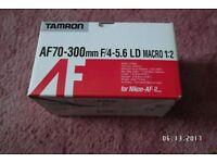 TAMRON 70-300 MM BRAND NEW LENS FOR NIKON DIGITAL SLR CAMERAS. £60.00