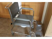 Wheelchair Commode Wheeled Over Toilet WheelChair Mobility Aid