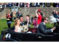 Wedding Photographer £549 Whole Day or by hourly rate.