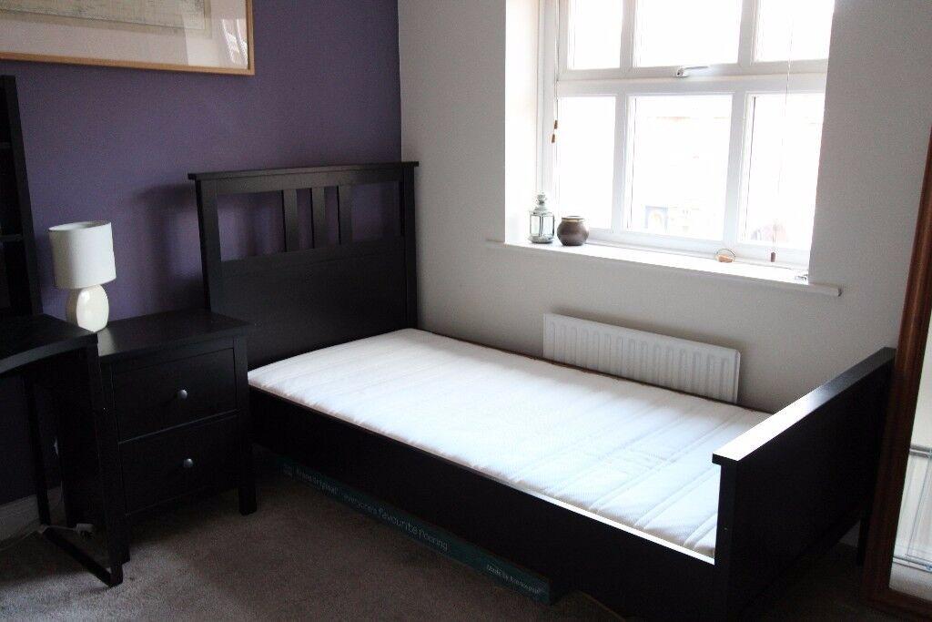 IKEA HEMNES SINGLE WOODEN BED