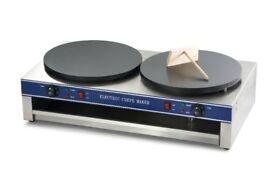 Stainless Steel Crepes Maker - 40 cm - 2 x 3000 Watt - 2.1