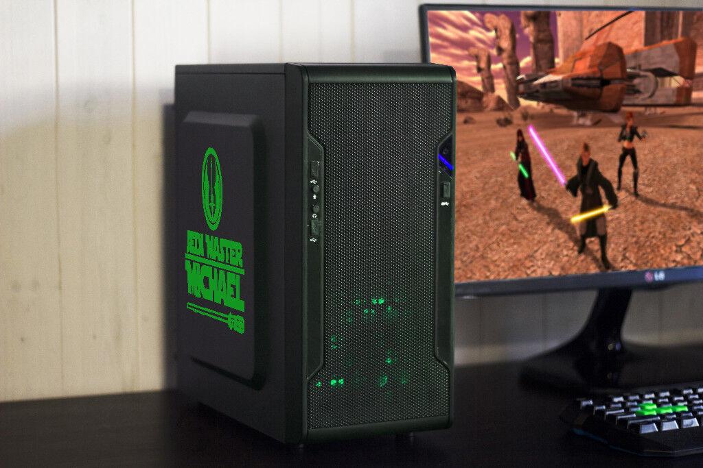 Fast Gaming PC Computer Desktop Intel Quad Core Windows 10 Nvidia GTX LED Quiet Fan