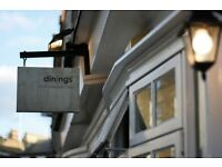 Dinings restaurant in Marylebone is looking to employ an experienced Sushi Chef