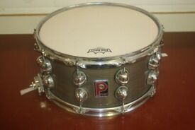 Premier Genista 14 inch x 7 inches Deep Wooden Snare Drum - Sable - Made in England - £350 ono