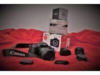 Canon body 760d + Tamron lens 16-300mm + Canon lens 50mm