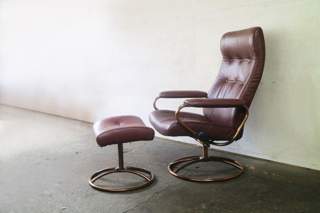 Outstanding Mid Century Norwegian Reclining Chair And Ottoman By Ekornes Stressless In Bethnal Green London Gumtree Ocoug Best Dining Table And Chair Ideas Images Ocougorg