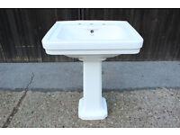 CP HART London Washbasin Sink and Pedestal.