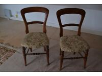 Edwardian solid wood bedroom chairs