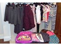 Bundle of girls clothes, brand new shoes and coats sizes 7-10years