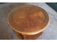 Small Wooden Lounge Round Side Table