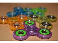 Glitter Fidget / Hand Spinners - New In - Lovely Colours