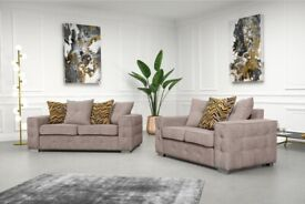 Brand New Lisbon Plush Velvet Fabric 3+2 / Corner Sofa / Multiple Colours available