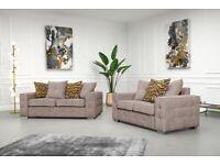 Brand New Lisbon Plush Velvet Fabric 3+2 / Corner Sofa / Multiple Colours available