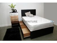 New Stock! Brand New Divan Bed With Good Quality Medium Firm Mattress.All sizes! Free delivery