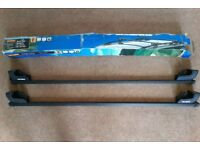 2 Halfords Car Roof Bars, 'E' Fitting. Hardly Used. Excellent Condition
