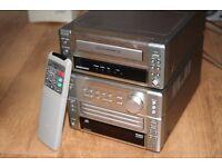 Denon M5 amplifier/receiver, Denon M-10 tape recorder with remote