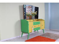 1950s RETRO DRESSING TABLE ANNIE SLOAN - CAN COURIER - FREE LOCAL DELIVERY