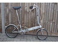 1982 Vintage Bickerton Lightweight Folding Bike Garaged Stored 30 Years ! ** Light Project Bike **
