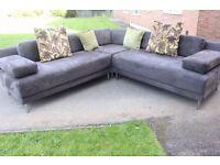 HABITAT SCALA by Matthew Hilton faux suede sectional modular corner sofa