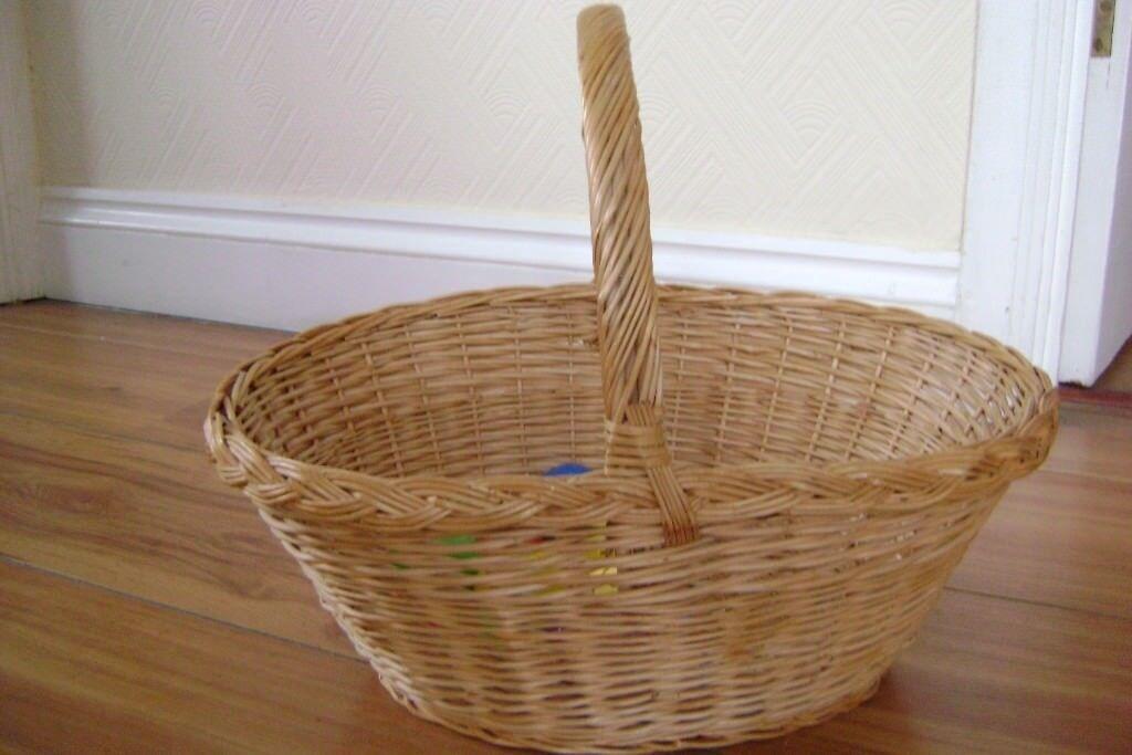 Wicker easter basket in eltham london gumtree wicker easter basket negle Choice Image