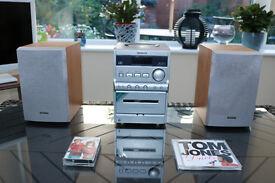 AIWA CD & CASSETTE STEREO SYSTEM MODEL XR-EM20