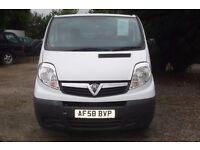 Vauxhall Vivaro 2900 lwb cdti 2008-58-reg, 79,000 miles, 1995cc turbo diesel, new MOT