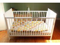 John Lewis Cot Bed / Junior Bed. V good condition. Can deliver