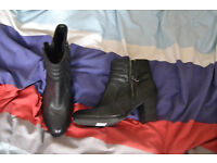 CLARKS ankle boots with heel (size 7)