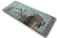 Tappeto Ponte Genuino Cina Seta Fine Immagine 70x155 Cm Annodato A Mano 100% -  - ebay.it