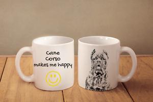 Cane Corso, Italienischer Corso-Hund - ein Becher &quot;Makes me happy&quot; Subli Dog, DE - <span itemprop='availableAtOrFrom'>Zary, Polska</span> - Zwroty są przyjmowane - Zary, Polska