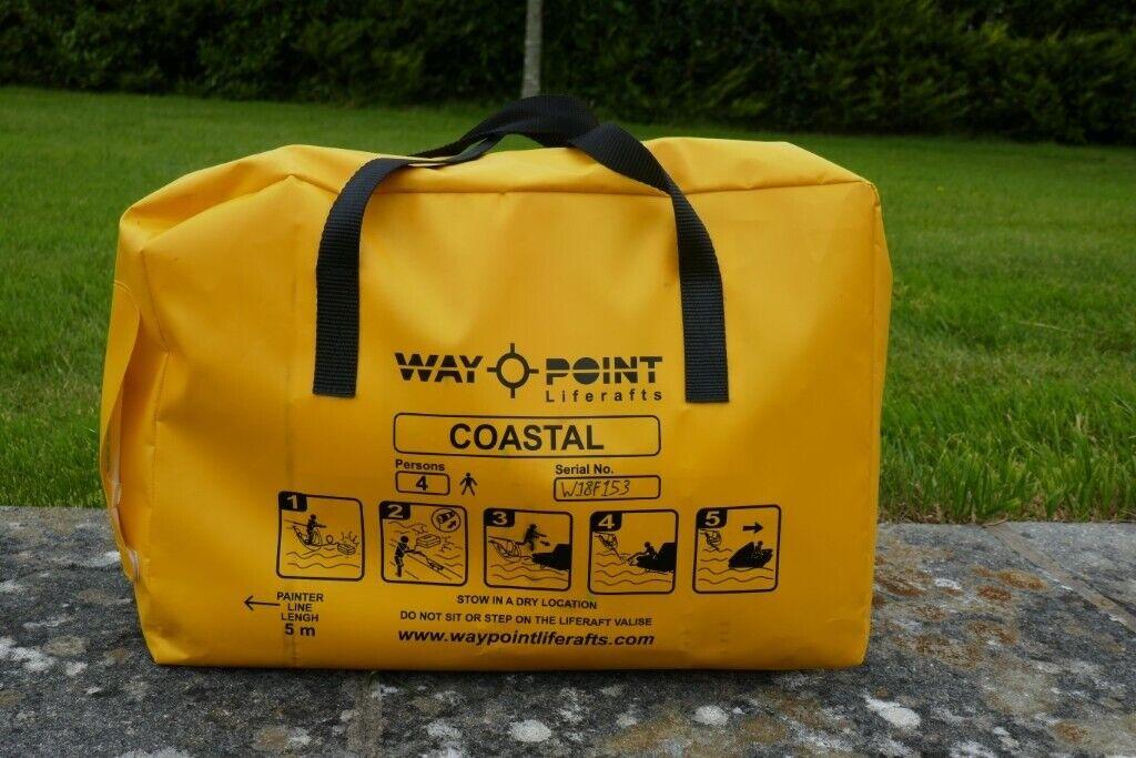 Waypoint 4 Person Coastal Single Tube Valise Liferaft   in Looe, Cornwall    Gumtree