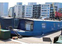 30ft narrowboat on residential London mooring