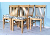 DELIVERY OPTIONS - 6 X KITCHEN/DINING CHAIRS LOVELY CND, BRAND NEW SEAT COVERS