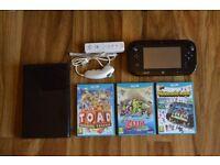 Nintendo Wii U with 3 Games